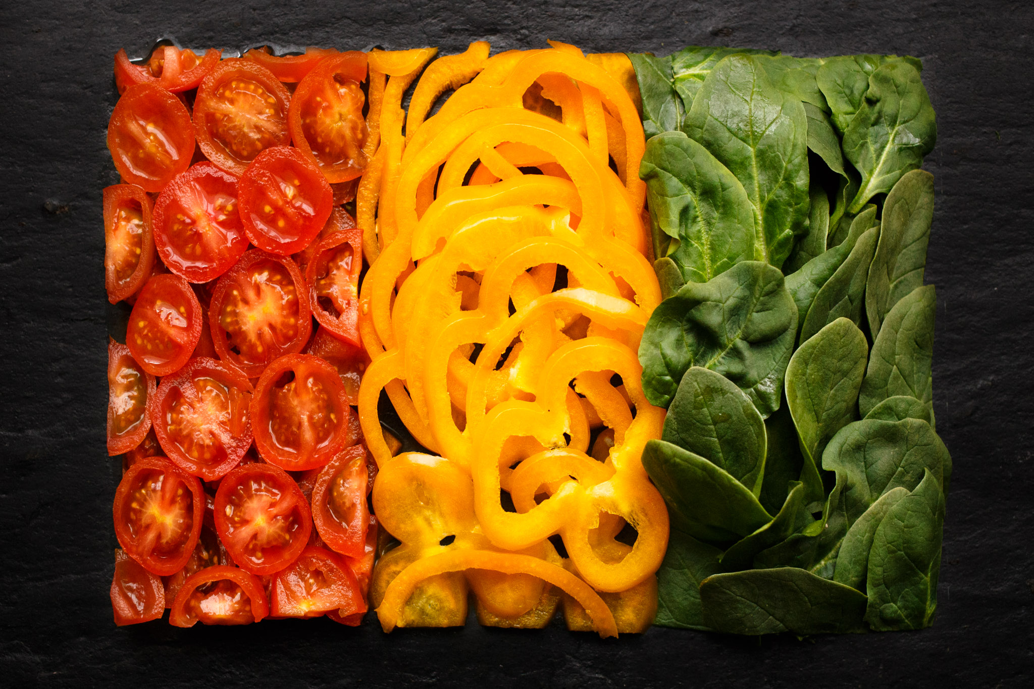 Flag of Guinea made with Food