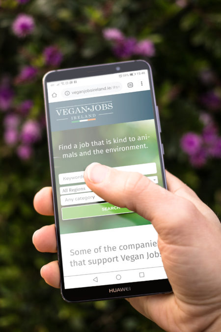 veganjobsireland.ie on mobile browser